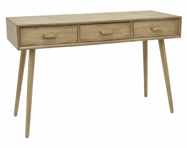 Homeroots Light Brown Wood Console Table OCN-292029