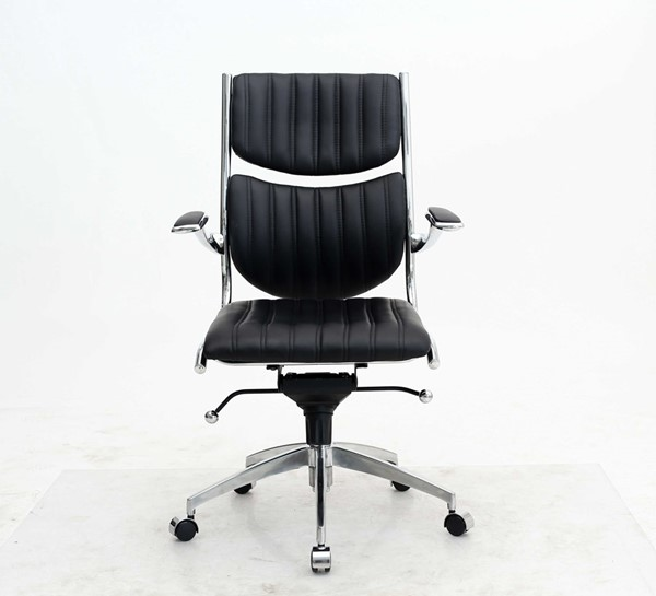 HomeRoots Black Ergonomic High Back Verdi Office Chair OCN-294462