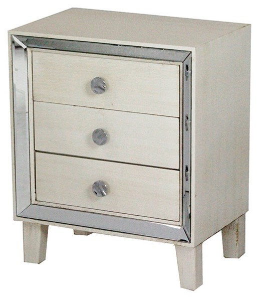 HomeRoots Bon Mirror 3 Drawers Accent Cabinets OCN-29464-ET-VAR2