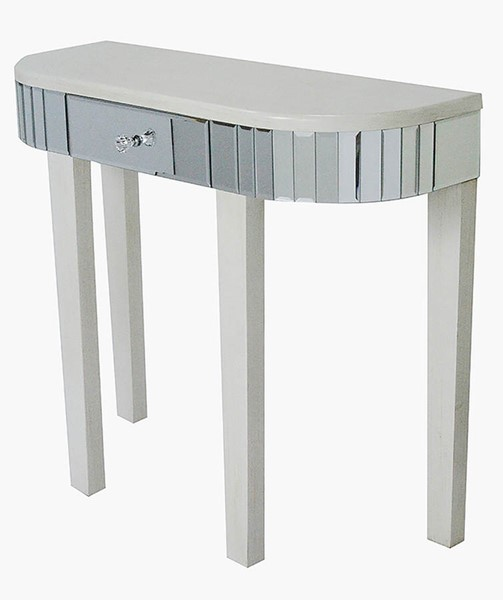 HomeRoots Elenor Antique White Wood Console Table OCN-294695
