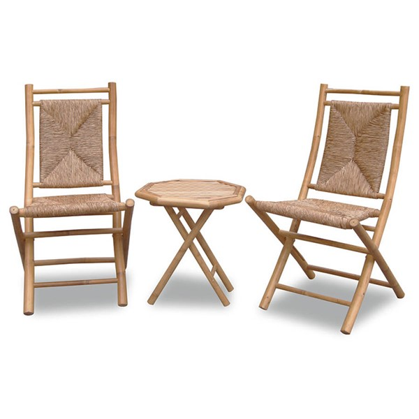 Home Roots Lanai Natural 3pc Outdoor Conversation Set OCN-294716