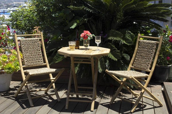 HomeRoots Maui Bistro Natural Seagrass 3pc Outdoor Dining Set OCN-294731
