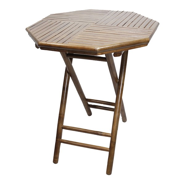 HomeRoots Lahaina Octagonal Folding Bamboo End Tables OCN-29473-ET-VAR