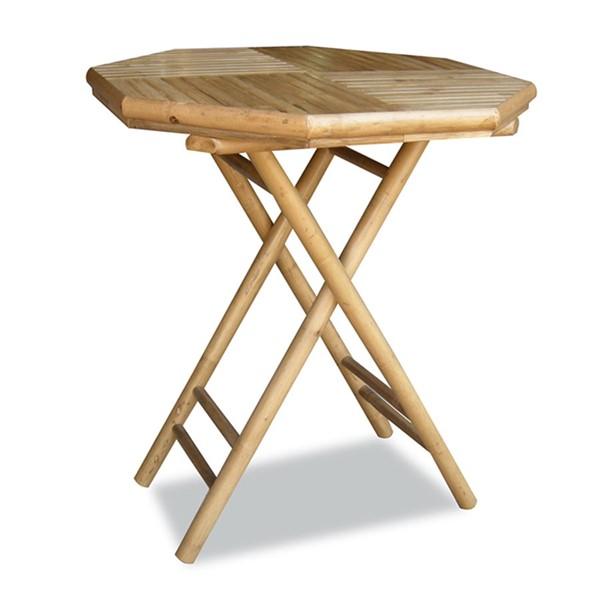 HomeRoots Lahaina Natural Octagonal Folding Bamboo End Table OCN-294740