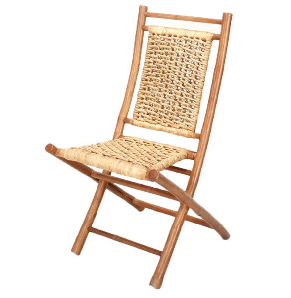 2 HomeRoots Makaha Brown Natural Bamboo Folding Chairs OCN-294741