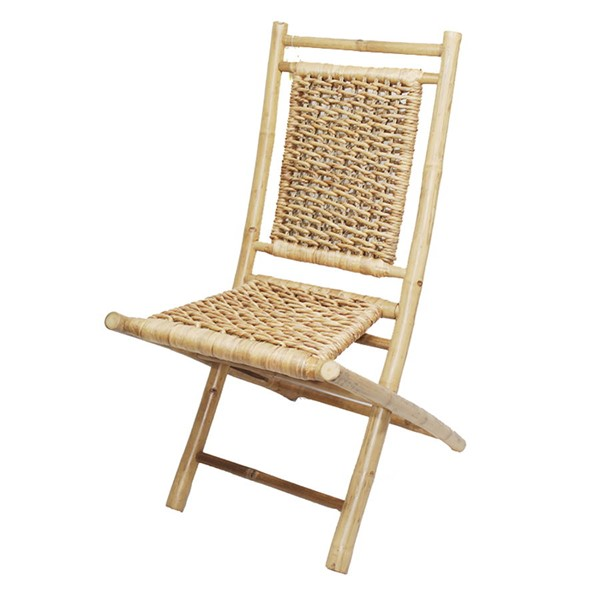 2 HomeRoots Makaha Natural Bamboo Folding Chairs OCN-294742