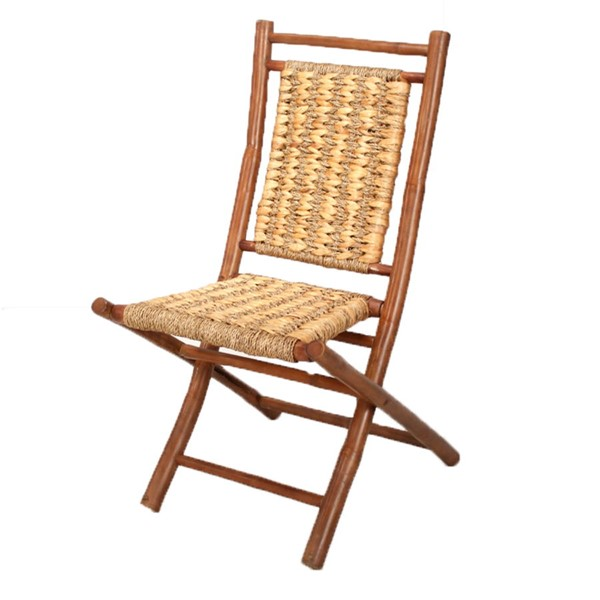 2 Ocean Tailer Kahala Brown Natural Bamboo Folding Chairs OCN-294743