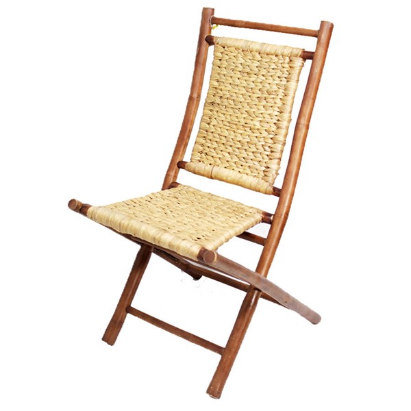 2 Home Roots Kailua Brown Natural Bamboo Folding Chairs OCN-294745