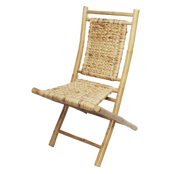 2 Home Roots Kailua Natural Bamboo Folding Chairs OCN-294746