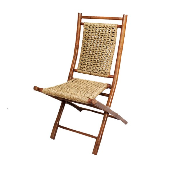 2 Ocean Tailer Lanikai Brown Natural Bamboo Folding Chair OCN-294747