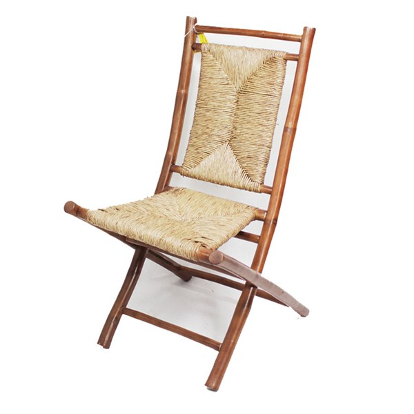 2 Home Roots Napili Brown Natural Bamboo Folding Chairs OCN-294749