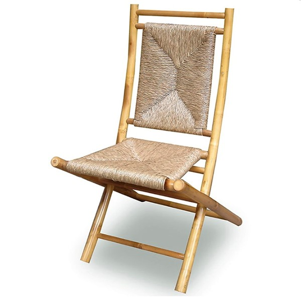 2 HomeRoots Napili Natural Bamboo Folding Chairs OCN-294750