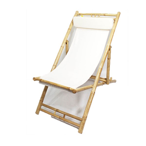 2 Home Roots Waimea Natural White Bamboo Folding Sling Chairs OCN-294752