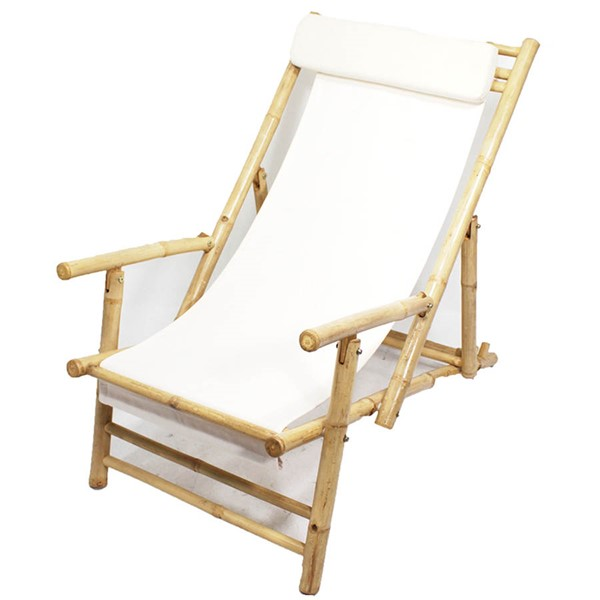 2 Ocean Tailer Kahului Natural White Folding Sling Arm Chairs OCN-294754