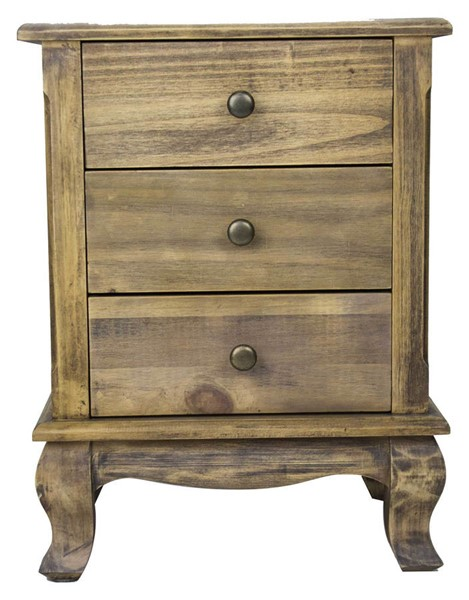 HomeRoots Pinecrest Rustic 3 Drawers End Table OCN-294792