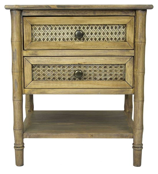 HomeRoots Wallace Rustic Wood End Table OCN-294798
