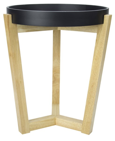 HomeRoots Euro Black Tray Top End Table OCN-294804