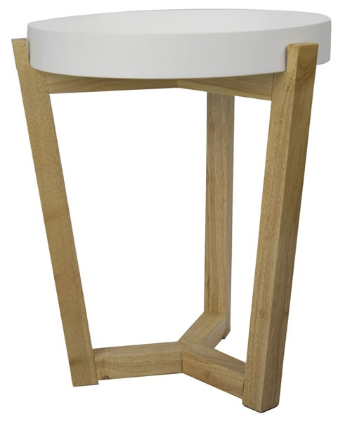 HomeRoots Euro White Tray Top End Table OCN-294805