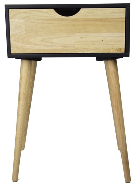 HomeRoots Euro Black One Drawer End Table OCN-294924