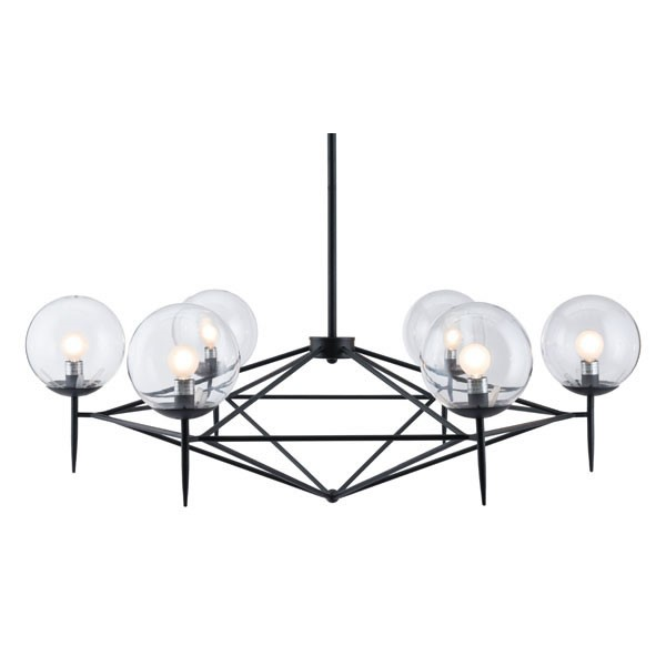 Home Roots Black Metal Ceiling Lamp OCN-294948