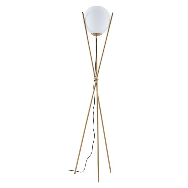 Home Roots Antwerp White Frosted Glass Floor Lamp OCN-295014