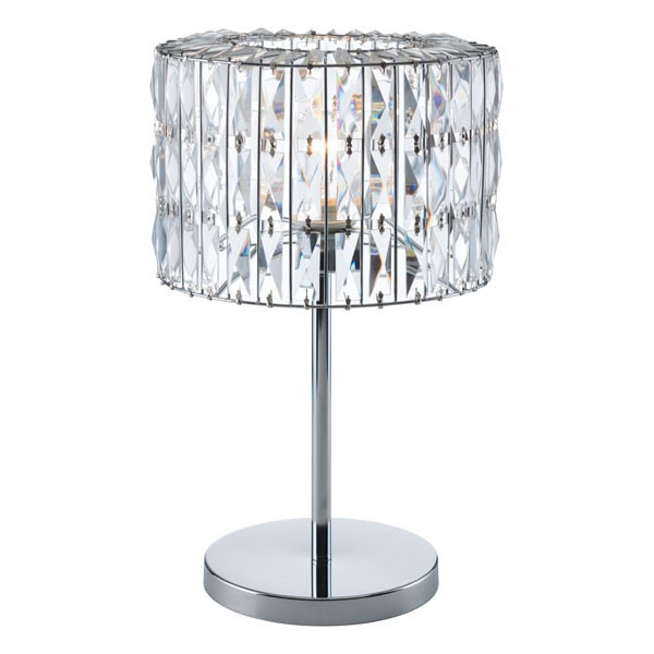 Home Roots Jena Clear Chrome Table Lamp OCN-295018