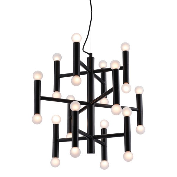 Home Roots Black Alton Ceiling Lamp OCN-295023