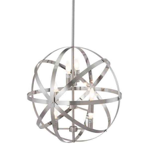 Home Roots Aston Frosted White Metal Ceiling Lamp OCN-295029