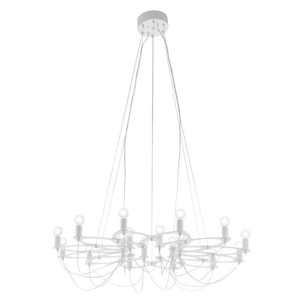 Home Roots Scala White Metal Ceiling Lamp OCN-295030