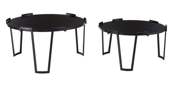 Homeroots Black 2pc Coffee Table OCN-295754