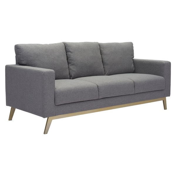 Ocean Tailer Didactic Light Gray Fabric Sofa OCN-296251