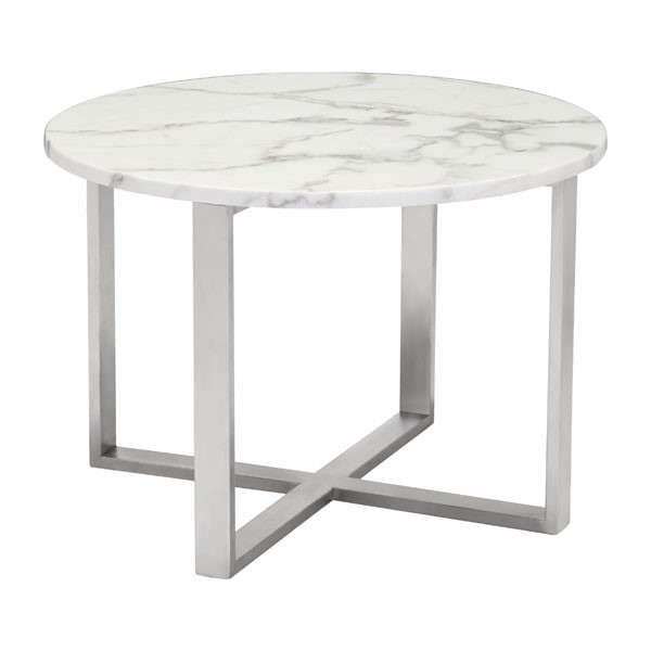 HomeRoots Faux Marble Globe End Table OCN-296266
