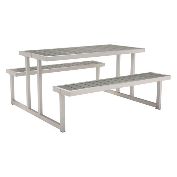 HomeRoots Cuomo Faux Wood Picnic Table OCN-296269