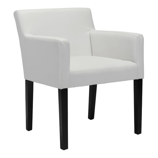 HomeRoots Franklin White Faux Leather Dining Chair OCN-296275