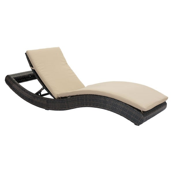 Home Roots Beige Beach Chaise Lounge OCN-296297