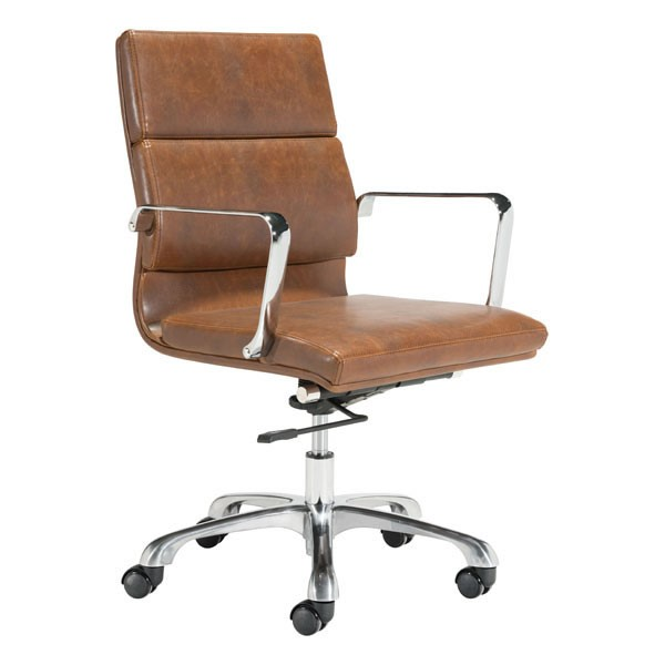 Home Roots Handsome Brown Faux Leather Office Chair OCN-296298