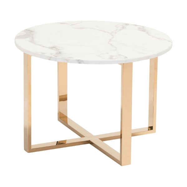 HomeRoots Globe Gold Metal Round End Table OCN-296335