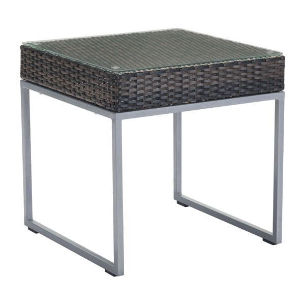 HomeRoots Brown Silver Side Table OCN-296350