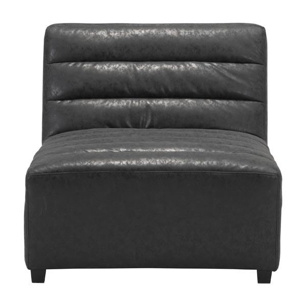 HomeRoots Soho Black Faux Leather Single Chair OCN-296376