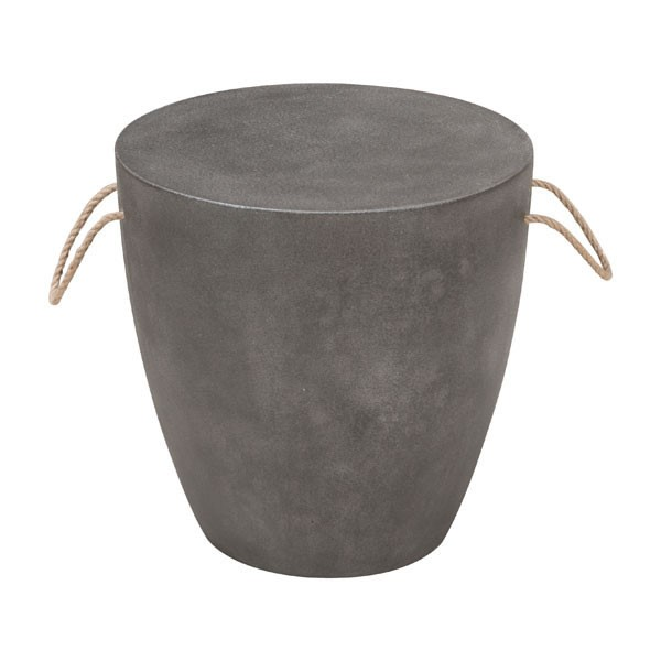 HomeRoots Dad Poly Cement Drum Stool OCN-296406