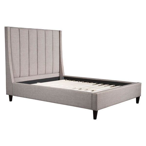 HomeRoots Dove Gray Polyester Gilded Age Queen Bed OCN-296422