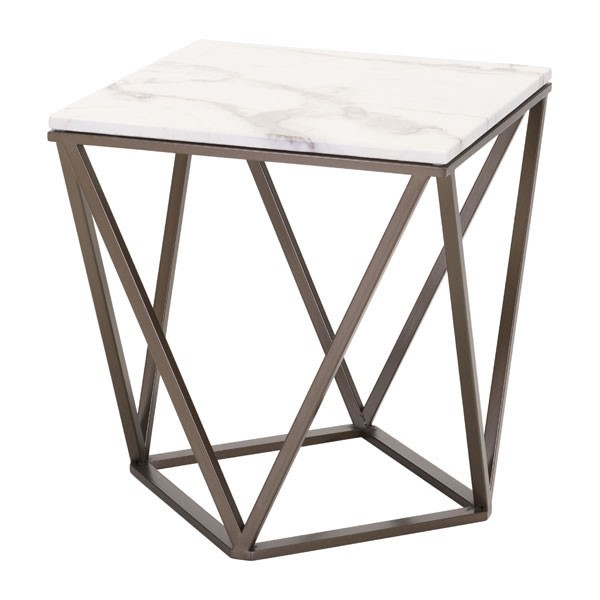 Home Roots Tintern Antique Faux Marble End Table OCN-296472