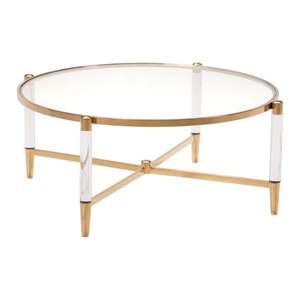 HomeRoots Existential Gold Coffee Table OCN-296475