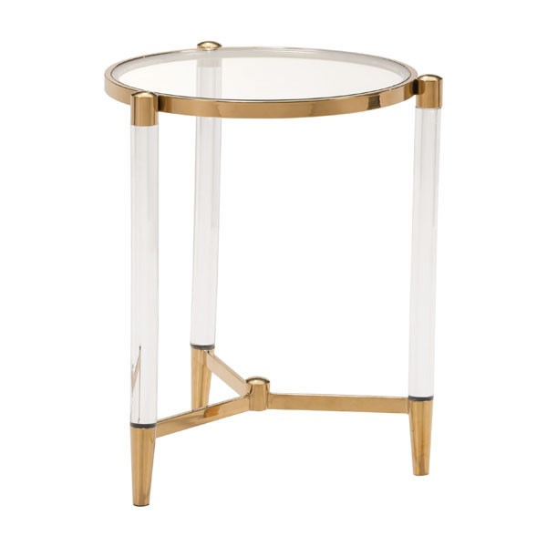 HomeRoots Existential Gold Side Table OCN-296477