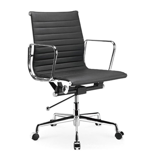 Home Roots Ellwood Black Mid Back Adjustable Office Chair OCN-297063