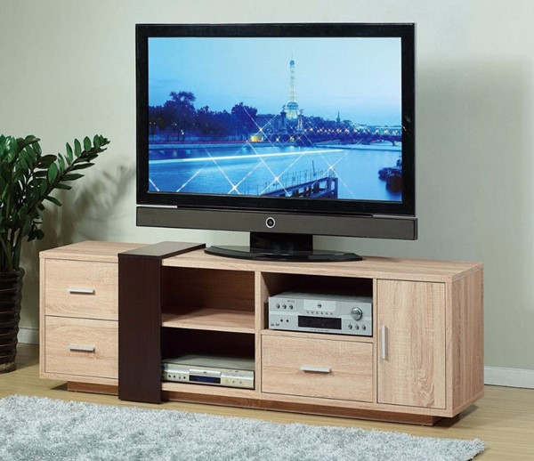 Homeroots Red Cocoa Brown Wood Splendid TV Stand OCN-299760