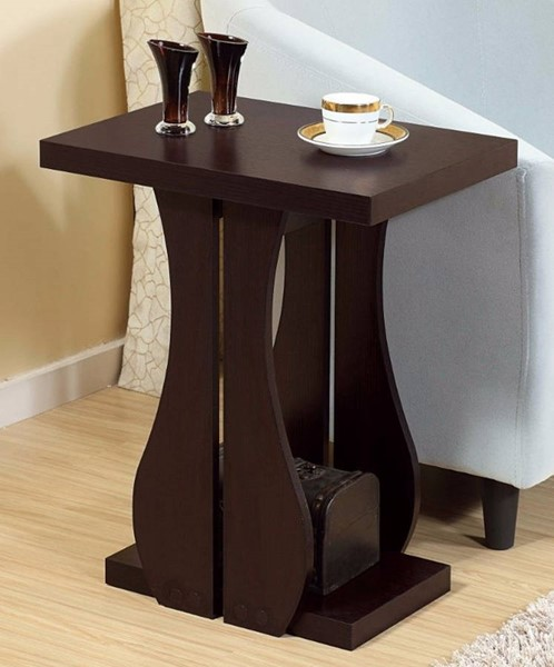 Homeroots Brown Cocoa Wood Chair Side Table OCN-299768