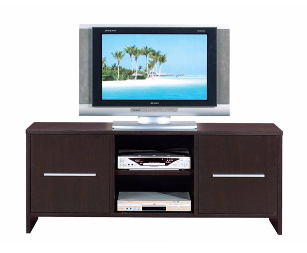 Homeroots Brown Wood Sleek Wide Two Cabinets TV Stand OCN-299801