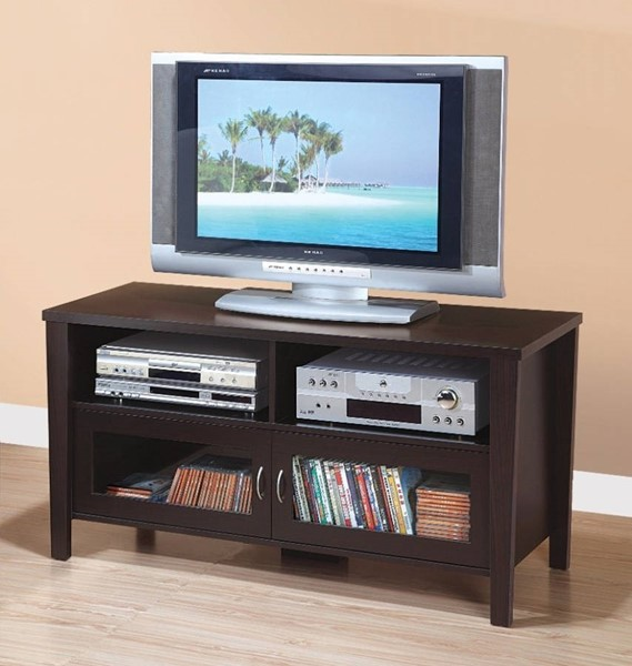 Homeroots Brown Wood Flared Legs TV Stand OCN-299806