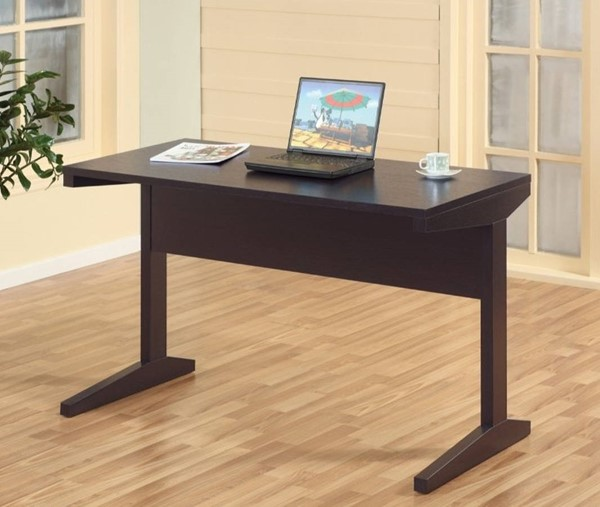 Homeroots Dark Brown Wood Office Desk OCN-299919